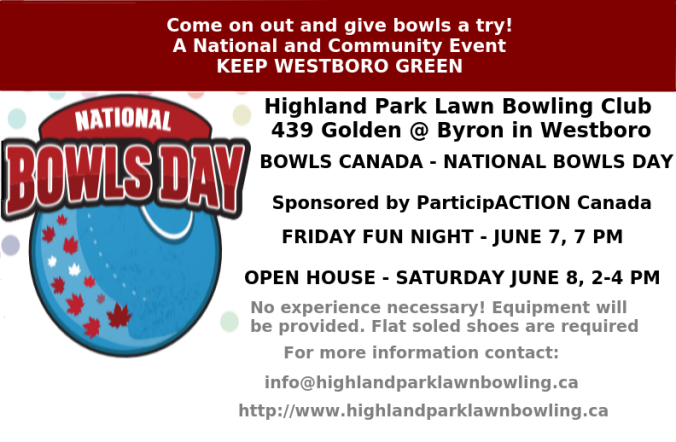 HPLBC Bowls Day Poster 2019
